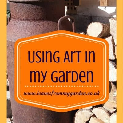 Using Vintage Art In My Garden
