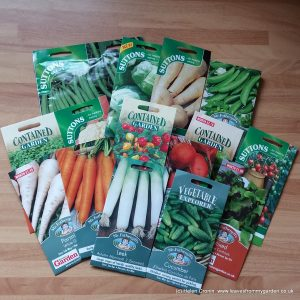 Choice of vegetable seed packets