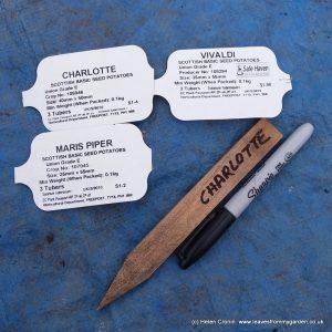 Label Potato varities