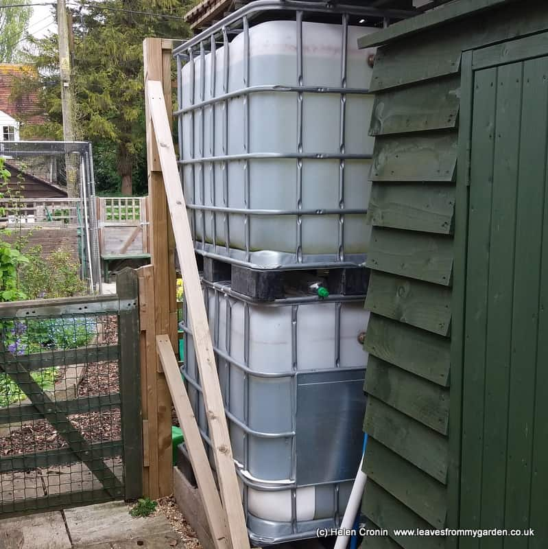 Stacked IBC for Garden Water supply