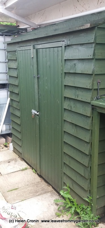 The new garden Shed at Dovewood