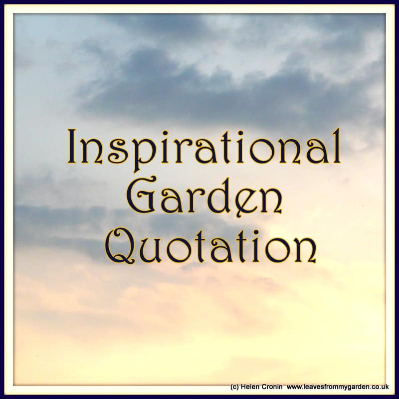 Thought provoking inspirational Garden Quotes