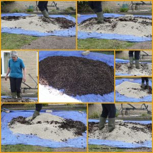Mel Mix SMG compost mixed by foot