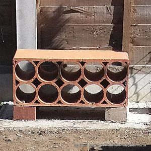 Salvaged terracotta wine rack used as a Bug Hotel www.leavesfrommygarden.co.uk