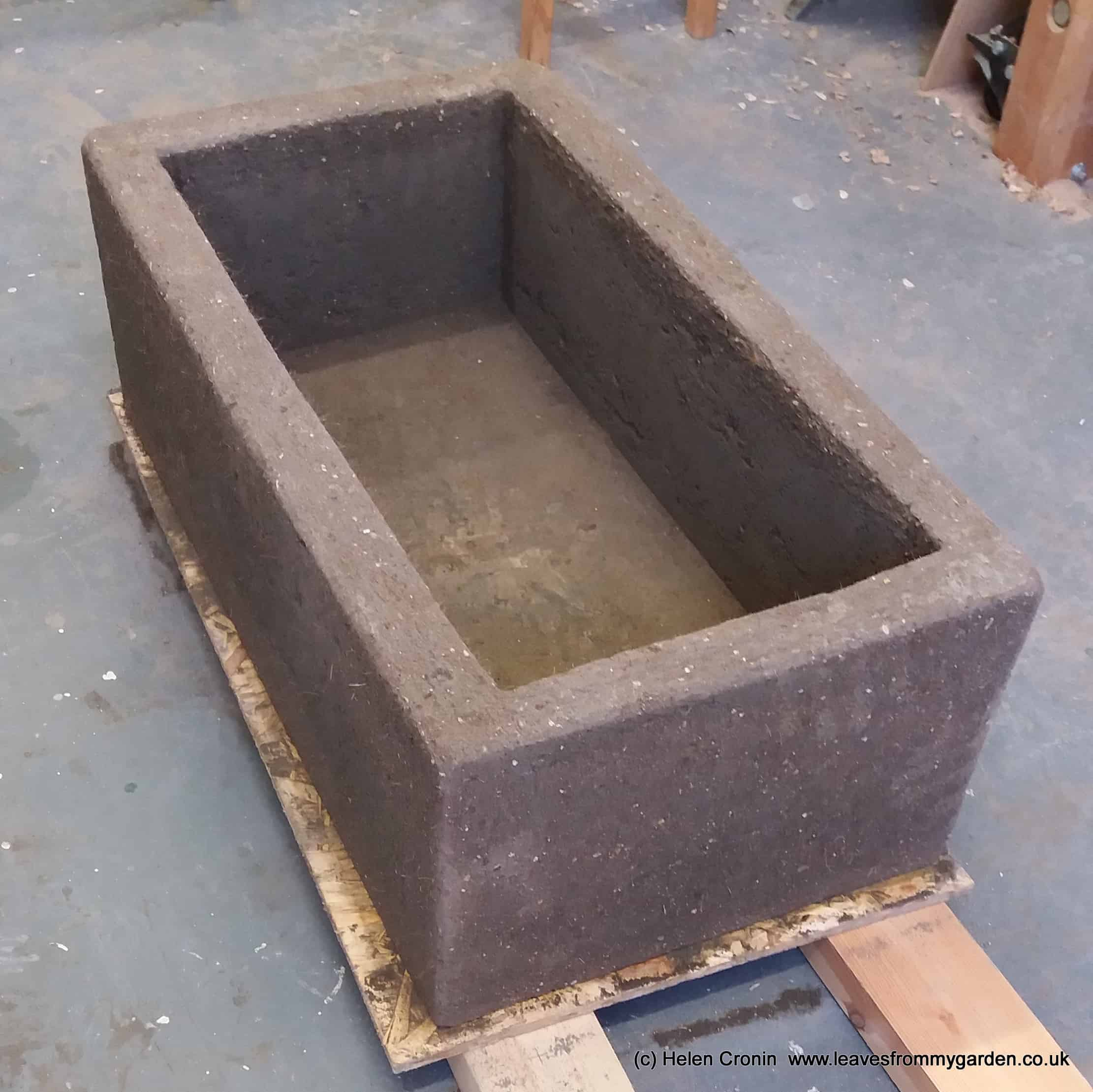 Our hypertufa trough at Dovewood www.leavesfrommygarden.co.uk