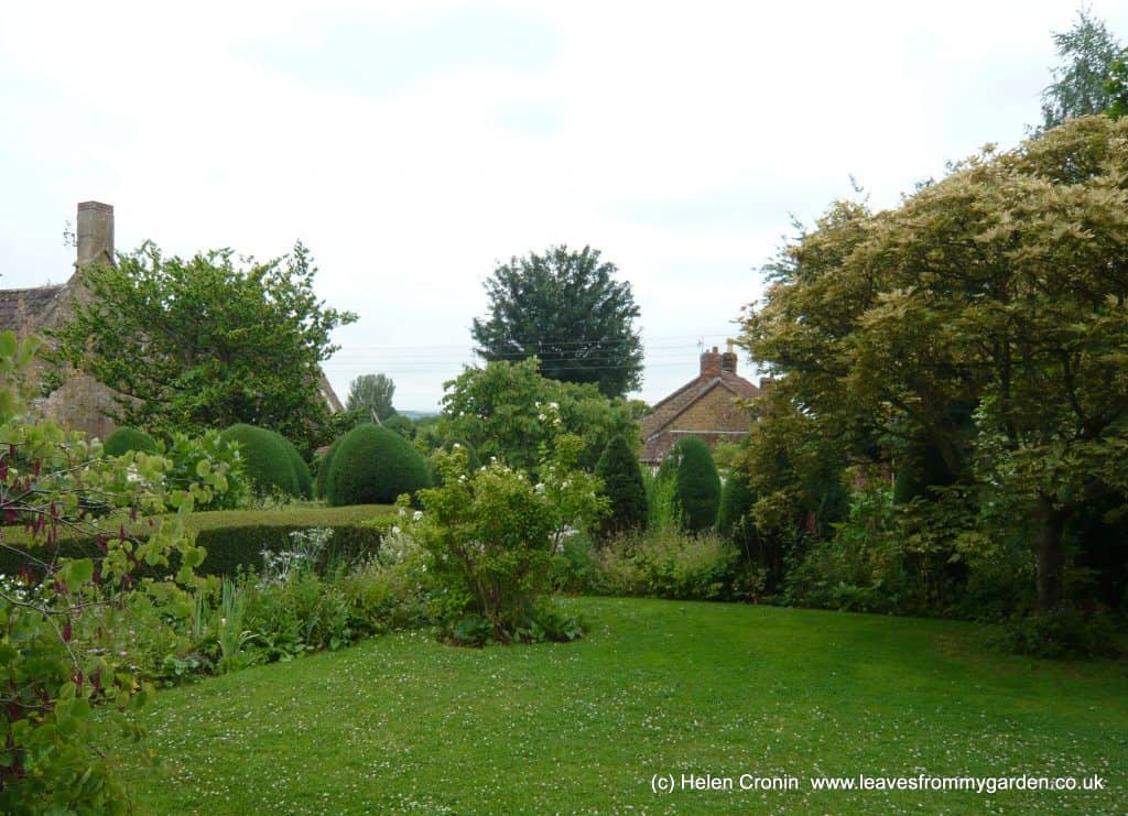 The Top Lawn surrounde by a Flower border. Garden created by Margery Fish at East Lambrook Manor