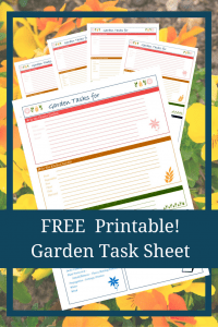 www.leavesfrommygarden.co.uk Garden Task Sheet