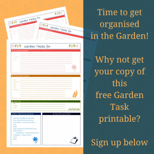 Garden Task free printable at leavesfrommygarden.co.uk