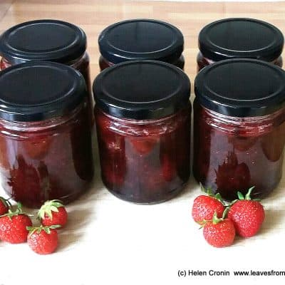 Recipe for making Strawberry jam at leavesfrommygarden.co.uk