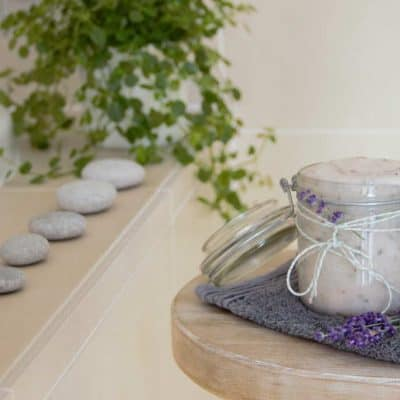 Lavender and Coconut Salt Body Scrub