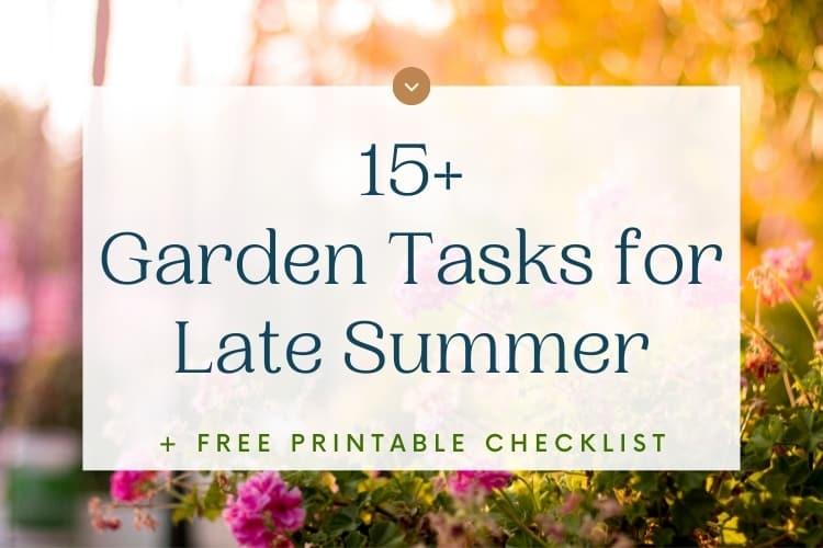 15+ Garden Jobs for August
